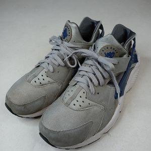 Nike Air Huarache Wolf Gray Running Shoes Men Size